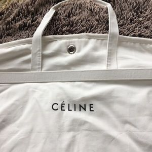 Celine garment bag clothes dress coat white